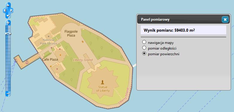 Liberty Island na mapie