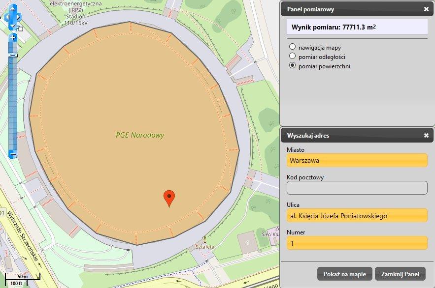 Stadion PGE Narodowy na mapie