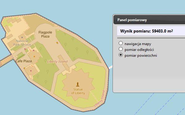Powierzchnia Liberty Island
