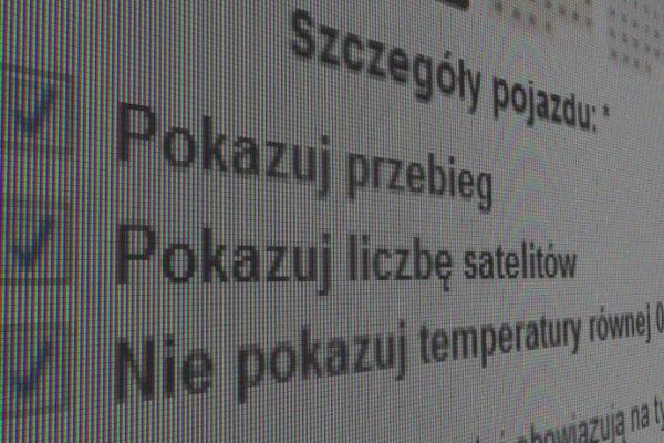 Zrzut ekranu ustawień programu