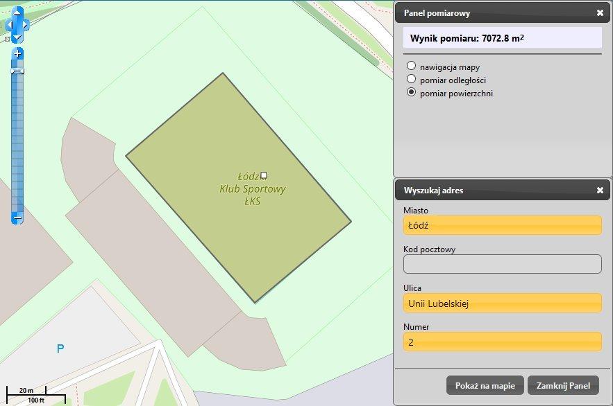 Stadion ŁKS w Łodzi na mapie