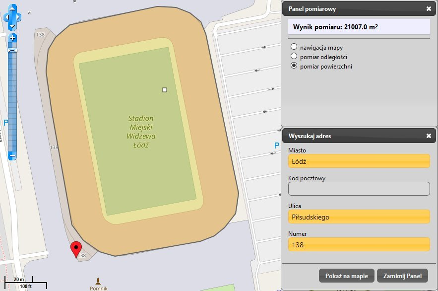 Stadion Widzewa na mapie