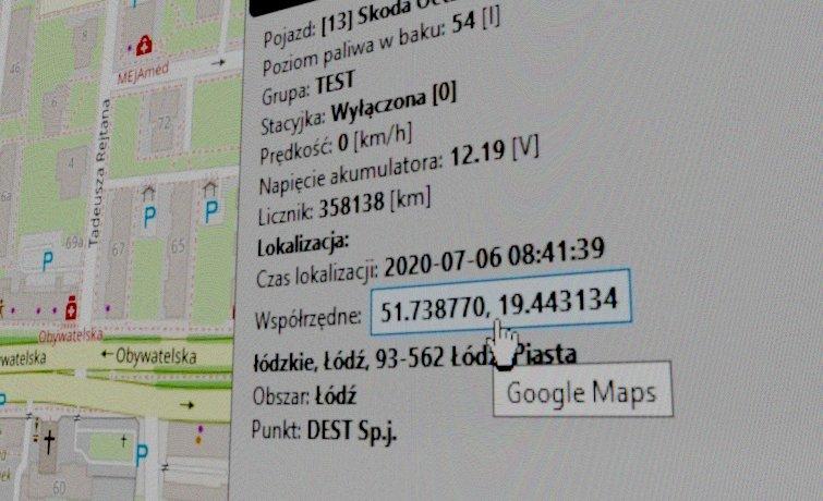 lokalizacja na mapach Google